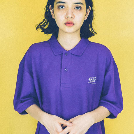 dabbot silhouette polo- shirt (purple)