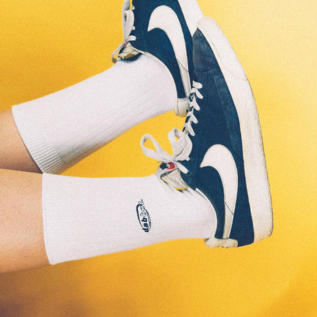 mini logo rib socks (white)
