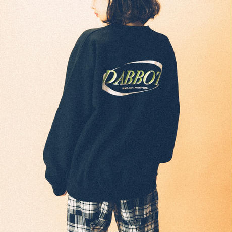 new big back logo sweat(black)