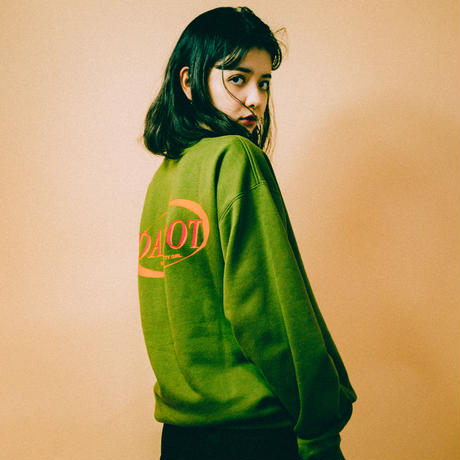 NEW BIG BACK LOGO SWEAT(olive)