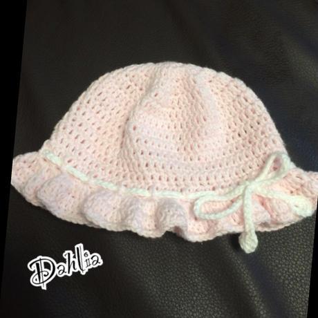 ヒラヒラ②ツバ付き帽子 Sサイズ