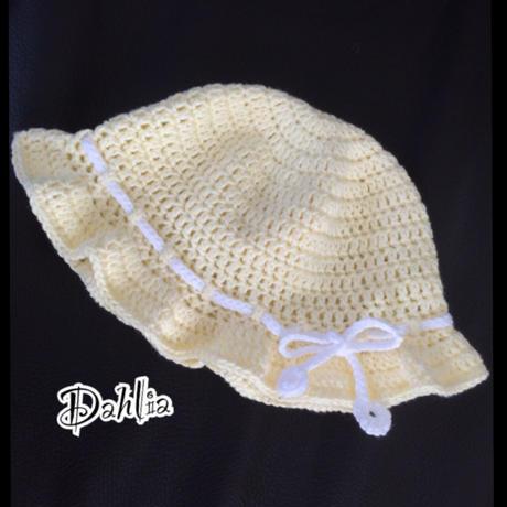ヒラヒラ②ツバ付き帽子Mサイズ
