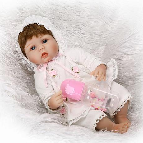 76929147a6457 ... リボーンドール リアル赤ちゃん人形 小さめ40cm かわいいベビー人形 ハンドメイド海外ドール 衣装とおしゃぶり