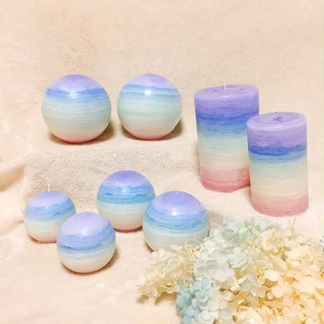 Rainbow candle    L