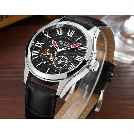 52aa0f34b5 ... BINKADA メンズ腕時計 機械式 自動巻き トゥールビヨン 防水 高級腕時計 ...