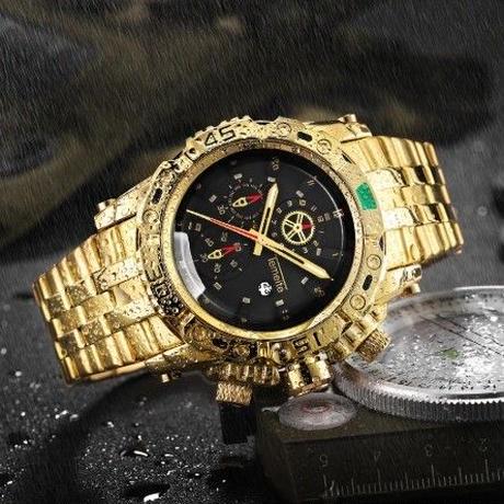 TEMEITE メンズ腕時計 クォーツ 自動日付 防水 海外限定品 日本未入荷