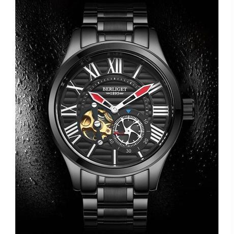 07c19179b3 BINKADA メンズ腕時計 機械式 自動巻き トゥールビヨン 防水 高級腕時計 ...