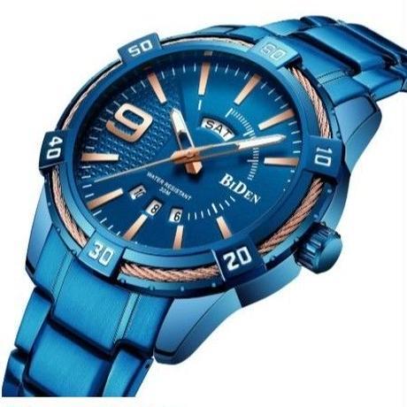 BIDEN メンズ腕時計 クォーツ 自動日付 防水 カジュアル メンズファッション 人気