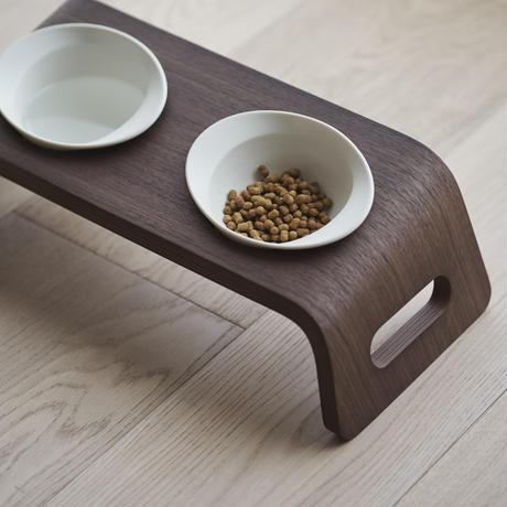 KARIMOKU CAT TABLE ホワイト&ウォールナットナチュラル