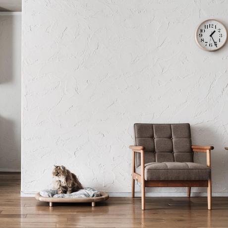 KARIMOKU CAT BED ライトグレー&ピュアオーク