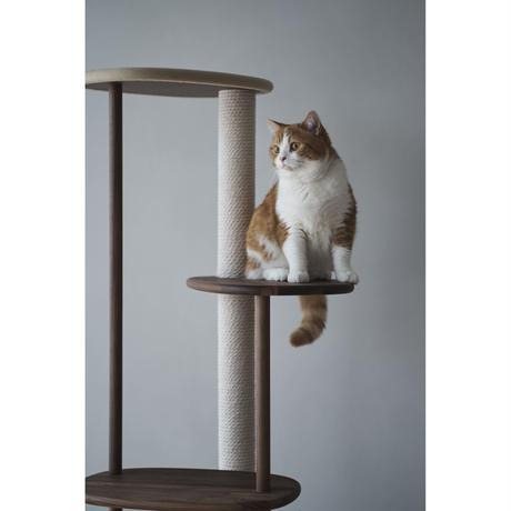 KARIMOKU CAT TREE  ベージュ&ウォールナットナチュラル