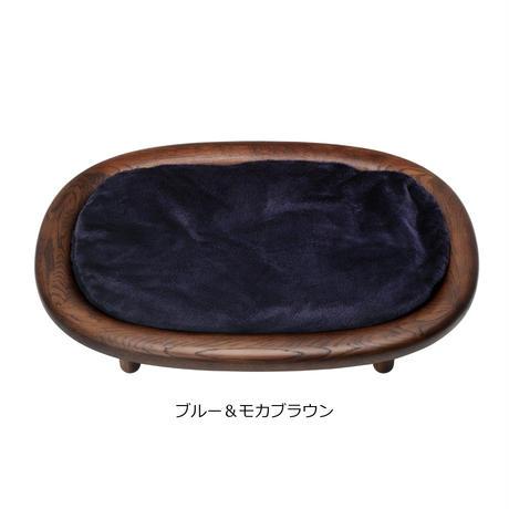 KARIMOKU CAT BED(グレー&ピュアオーク / ホワイト&シアーホワイト / ブルー&モカブラウン)