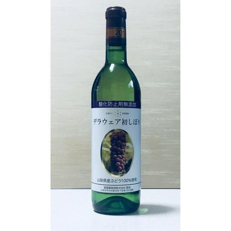 """今年の新酒! """"デラウェア初しぼり""""2018vin(720ml)【蒼龍葡萄酒醸造ワイン】[やや甘口]白"""