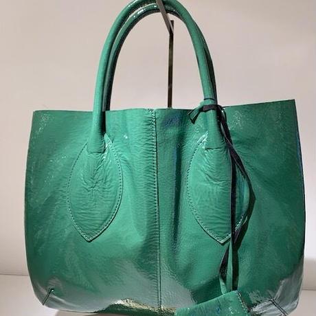 エナメルトートバッグ(Green)