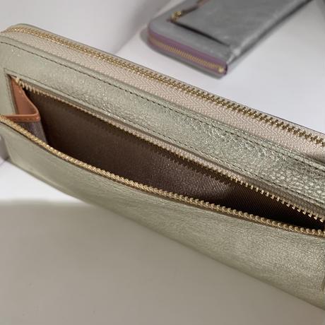 メタリックL字型財布
