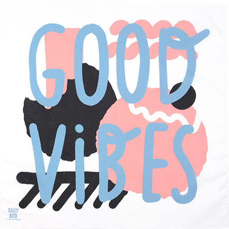 ハンカチ_GOOD VIBES