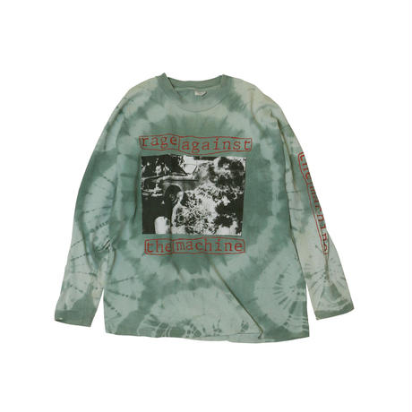 RAGE AGAINST THE MACHINE USED TIEDYE L/S Tshirts