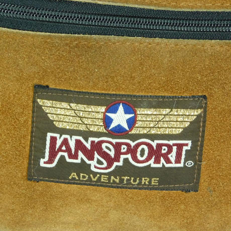 "USED ""JANSPORT ADVENTURE"" LEATHER FUNNY PACK"