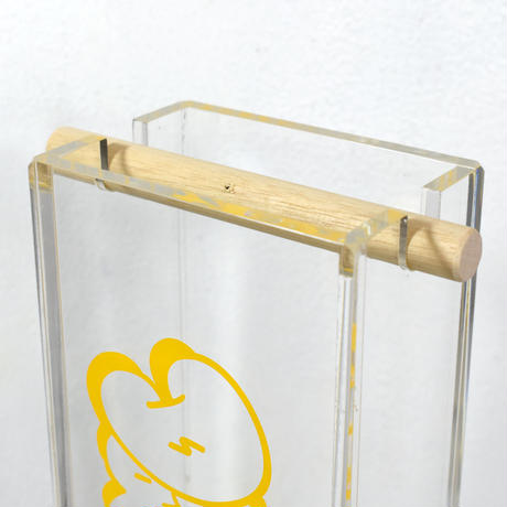 "DDQS ""BUBBLE LETTER"" ACRYLIC INCENSE BURNER ""DDQS YELLOW"""
