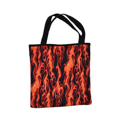 USED UNKNOWN FIRE PATTERN TOTE BAG