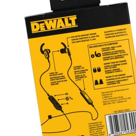 """""""DEWALT"""" EARPHONES"""