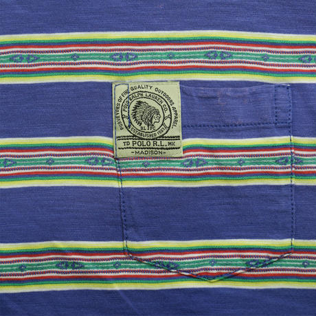 "USED ""POLO RALPH LAUREN"" NATIVE PATTERN T-shirt"