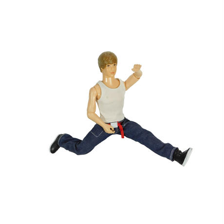"USED ""JUSTIN BIEBER"" ACTION TALKING FIGURE"