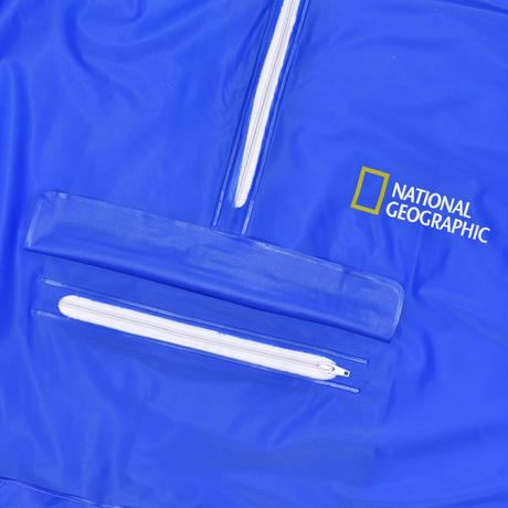 "USED ""NATIONAL  GEOGRAPHIC"" 100% P.V.C PULLOVER JACKET"