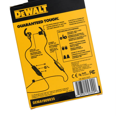 """DEWALT"" EARPHONES"