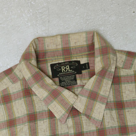 USED RRL CHECK S/S SHIRT