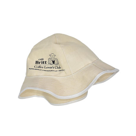 "USED ""CAFE BRITT COFFEE LOVER'S CLUB"" CANVAS HAT"