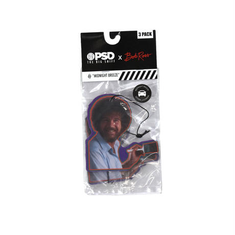 """PSD / BOB ROSS"" AIR FRESHENER 3PACK"