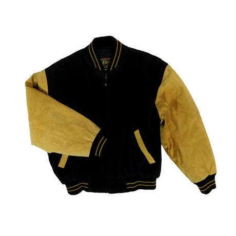 """USED """"DUAL CONTROL"""" SUEDE BOMBER JACKET"""