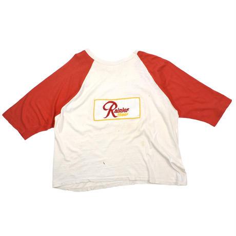 "USED ""RAINIER BEER"" RAGLAN T-SHIRT"