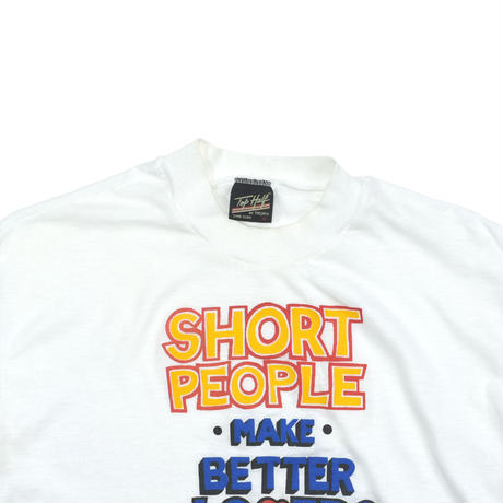 """USED 80'S """"SHORT PEOPLE MAKE BETTER LOVERS"""" T-shirt"""