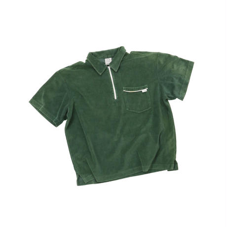 GRAND ROYAL HALF ZIP VELORE TOP