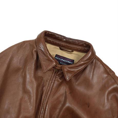 "USED ""ROUNDTREE & YORKE"" LEATHER JACKET"