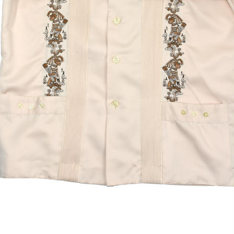 USED 70'S POLY EMBROIDERY SHIRT