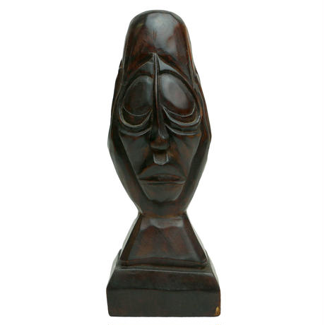 WOODEN  FACE ORNAMENT