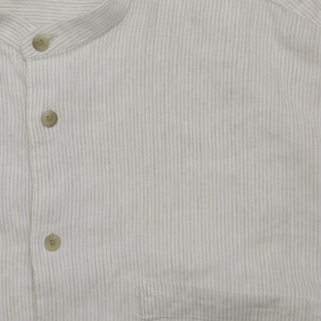 "USED ""ALFANI"" SINGLE NEEDLE / BAND COLLAR SHIRT"