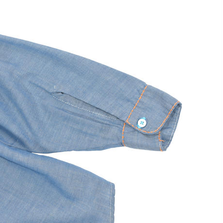 """VINTAGE 70'S """"MONTGOMERY WARD"""" HAND EMBROIDERY CHAMBRAY SHIRT"""