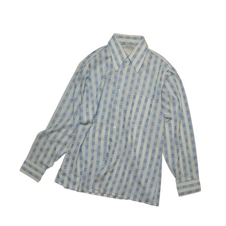 """USED """"KENT COLLECTION by ARROW"""" PATTERN SHIRT"""