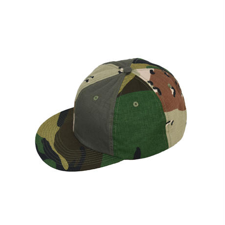 CAMO CRAZY PATTERN  SNAPBACK CAP