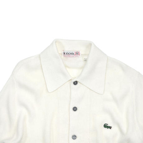 "USED ""80'S-90'S IZOD LACOSTE"" BUTTON UP KNIT"