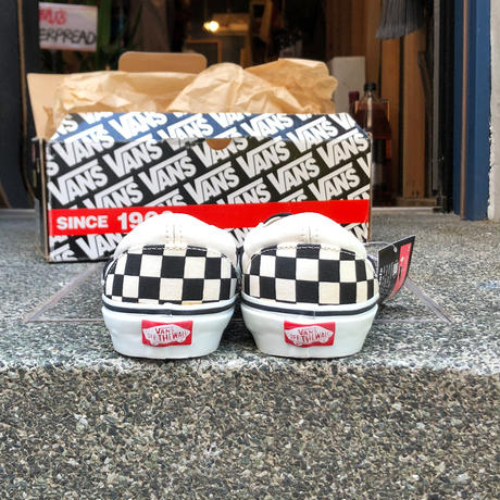 "LATE 90'S DEAD STOCK VANS ""CLASSIC SLIP-ON"" CHECKER BORAD / WHITE"
