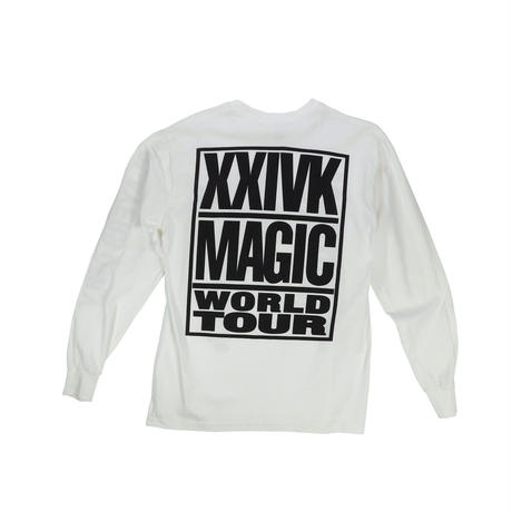 "USED ""BRUNO MARS XXIVK MAGIC WORLD TOUR"" T-shirt"
