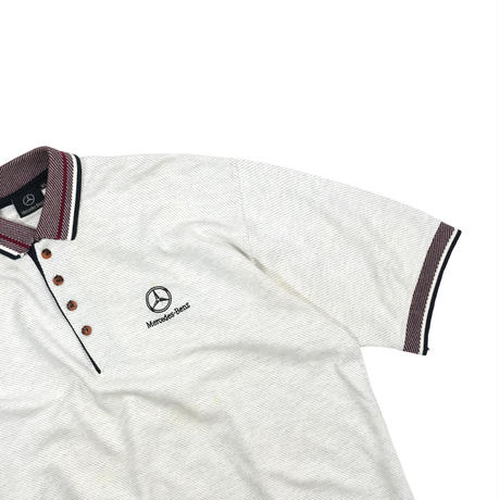 """USED 90'S """"MERCEDES BENZ"""" POLO SHIRT"""