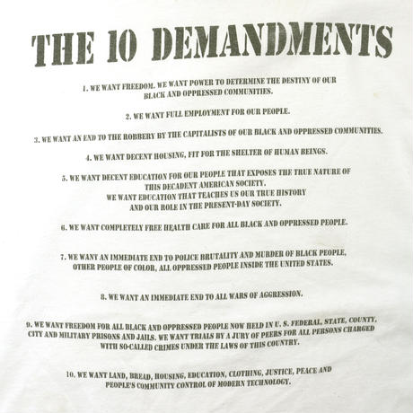 """USED """"BLACK PANTHER PARTY / THE 10 DEMANDMENTS"""" T-shirt"""