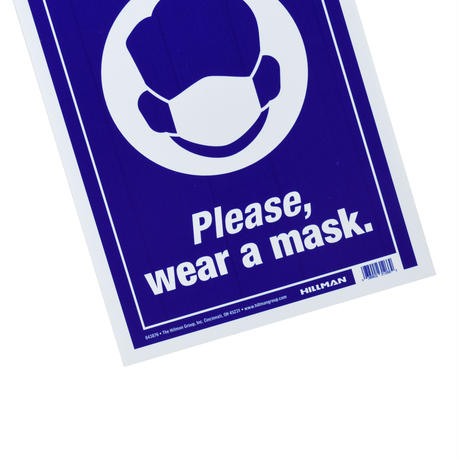 """""""PLEASE, WEAR A MASK"""" WALL SIGN"""