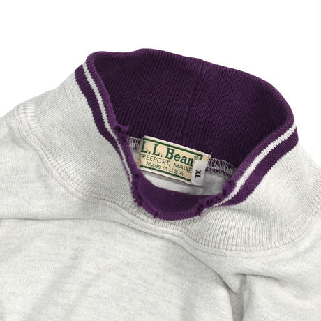 "USED ""80-90'S L.L.BEAN"" MOCK NECK PULLOVER"